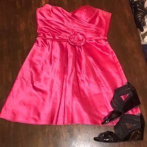 Formal Strapless Dark Pink Dress. Make offer